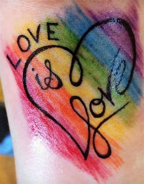 love is love tattoo 51 designs for ambie