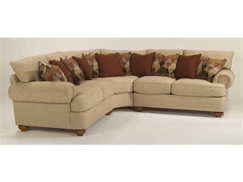 upholstery nailhead trim flexsteel living room fabric sectional without nailhead