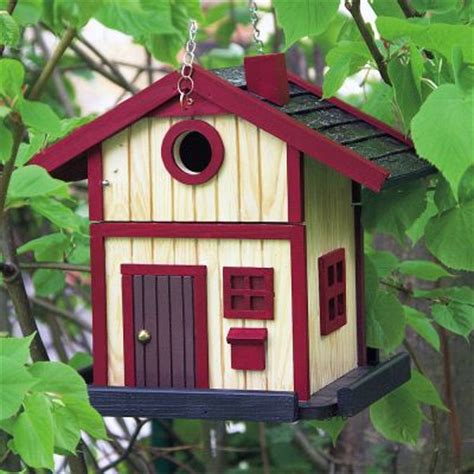 the bird house bird house scandinavian cottage red the store
