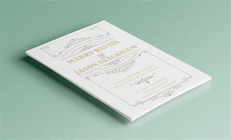 Invitation Letter Psd Wedding Template Invitation Templates On Creative Market