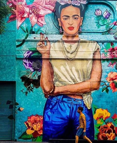 Paint For Wall Murals beautiful frida kahlo street art in buenos aires