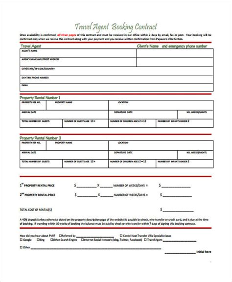 agent contract templates 8 free word pdf format