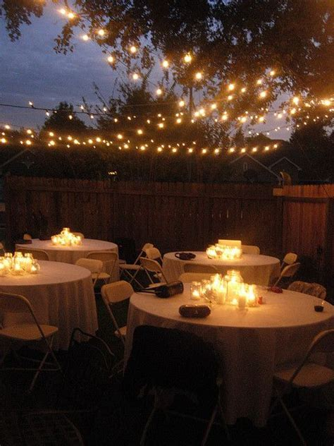 backyard wedding lights 25 best ideas about backyard lighting on