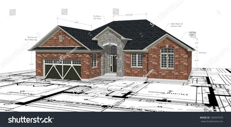brick house plans with photos red brick house plans stock photo 109597970 shutterstock