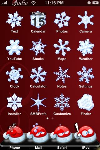 iphone themes christmas free iphone theme ipod themes ipod touch themes download