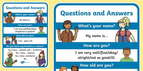 Questions About Resources You Must The Answers To by Questions And Answers A4 Display Poster