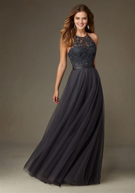 Bridesmaid Dress with Embroidery and Beading   Style 136   Morilee