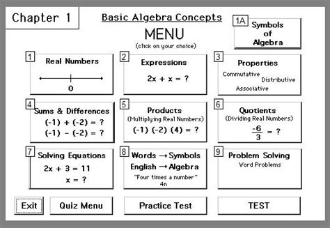 pattern in mathematics using algebraic concepts chapter 1 learning basic algebra concepts