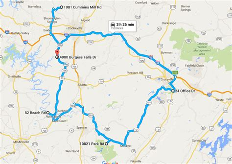 middle tn map ultimate middle tennessee waterfall roadtrip