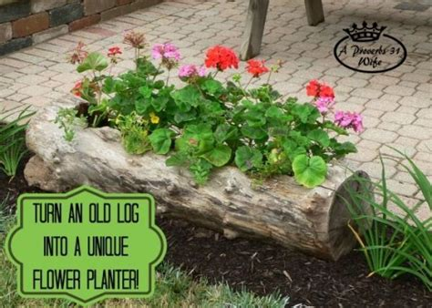 how to make a beautiful garden how to make a beautiful diy log garden planter how to
