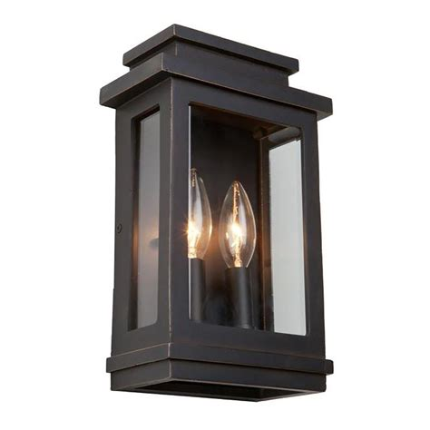 Outdoor Lighting Sconce Y Decor 1 Light Rubbed Bronze Outdoor Sconce El24301 1orb The Home Depot