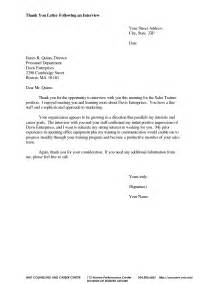 Thank You Letter After Interview For Internal Position sample thank you email for internal job interview cover letter