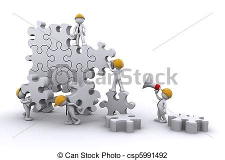 can stock photo clipart clip de business 233 quipe travail b 226 timent puzzle