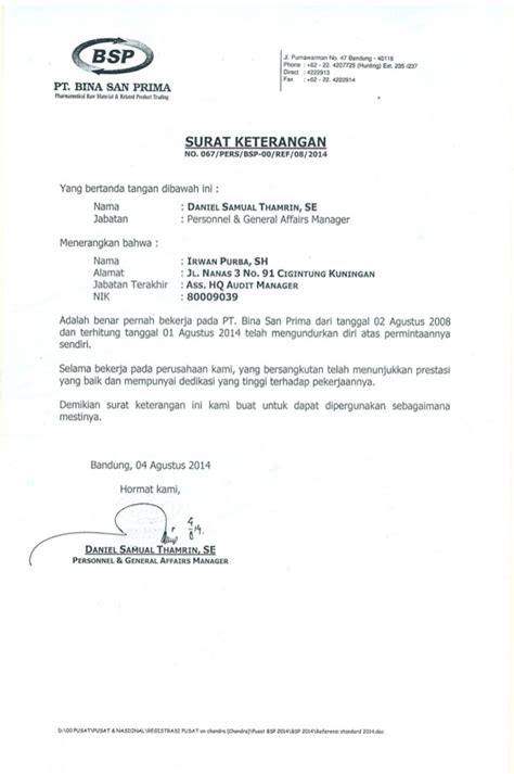 pin surat keterangan on