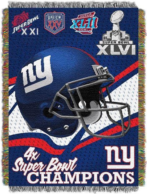 Nfl New York Giants Commemorative 48x60 Tapestry Throw Ny Giants Crib Bedding