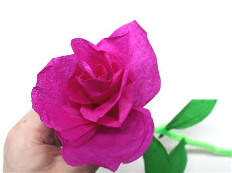 Roses With Tissue Paper - how to make tissue paper roses 14 steps with pictures