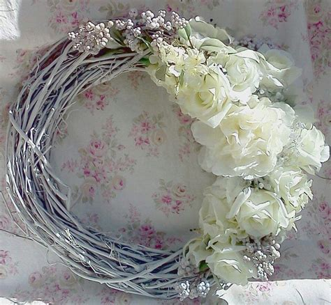 shabby chic wreath wreaths pinterest
