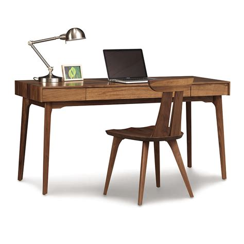 walnut desk home office furniture for small