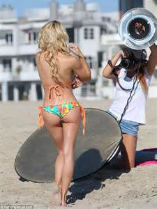 Playboy's Dani Mathers shows off her  body as she sips water on the beach   Daily Mail Online