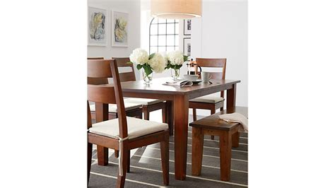 dining room tables crate and barrel basque honey 82 quot dining table crate and barrel