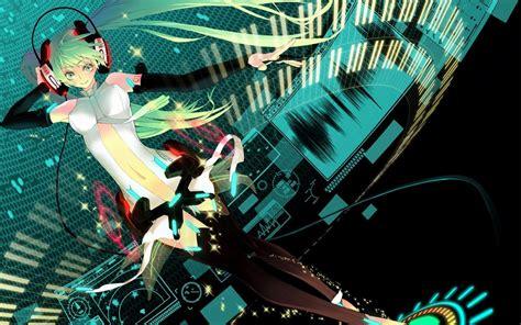 anime girl dj wallpaper vocaloid headphones girl anime girls vocaloid fanmade