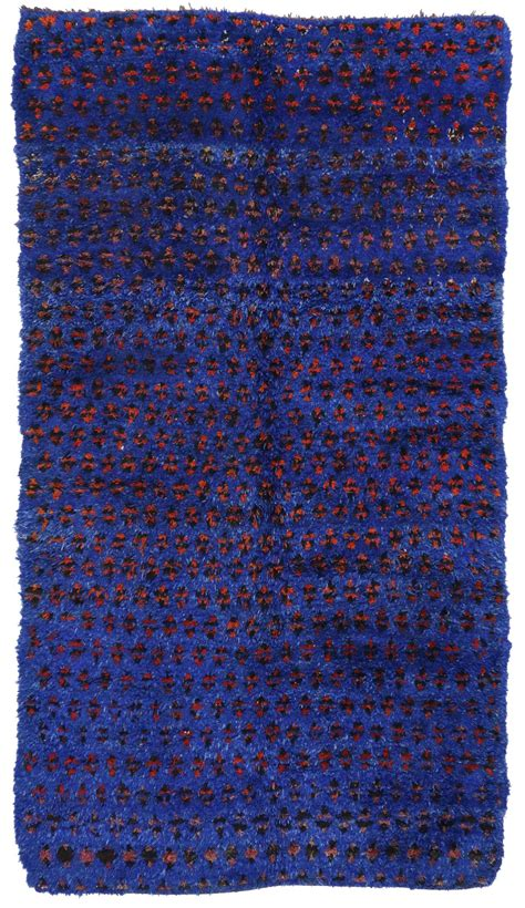 blue moroccan rug vintage blue beni mguild moroccan rug 07 00 quot x 12 05 quot at 1stdibs