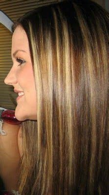 bangs and blending high and low lights to cover gray highlights and low lights for brown hair experimented