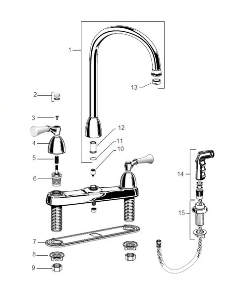 american standard kitchen faucets parts american standard 4175 200 colony single control kitchen