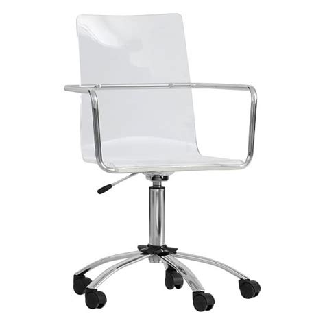 Paige Acrylic Swivel Chair Pbteen Acrylic Swivel Chair