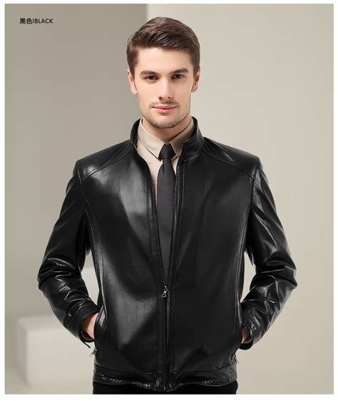 mens black leather motorcycle jacket leather jacket black men coat nj