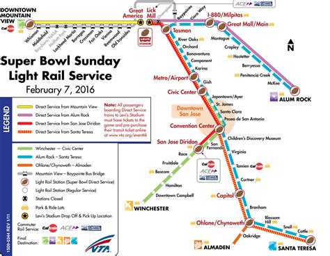 vta light rail map getting to mountain view
