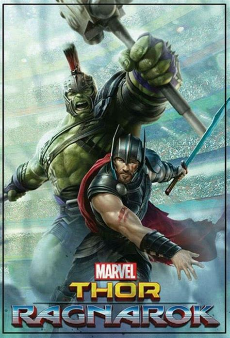 marvel s thor ragnarok the of the books thor and the featured on new promotional poster for