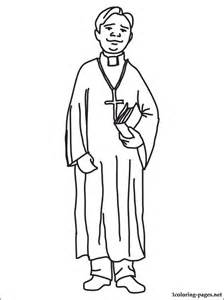 priest coloring page coloring pages