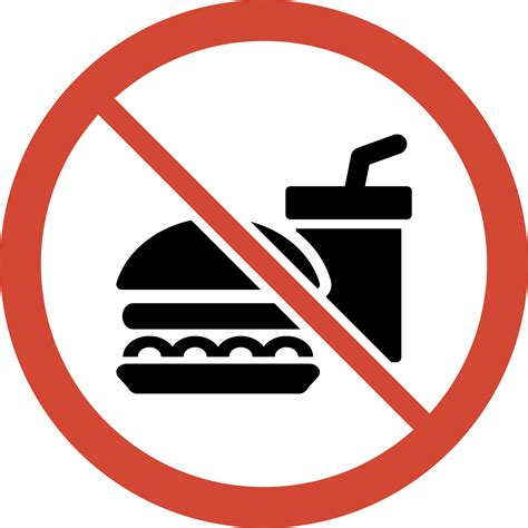 no food or drink clipart no food or drink sign