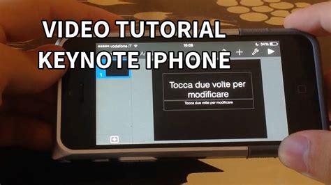Youtube Tutorial Keynote | tutorial keynote iphone 4 presentazioni youtube