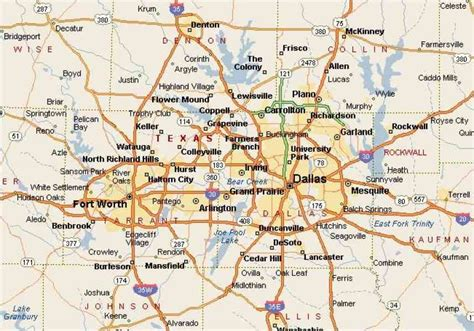 give me a map of texas dfw map holidaymapq