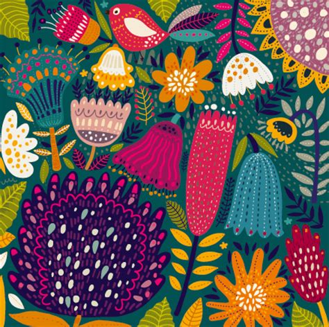 tropical pattern background free cartoon spring tropical pattern background 02 welovesolo