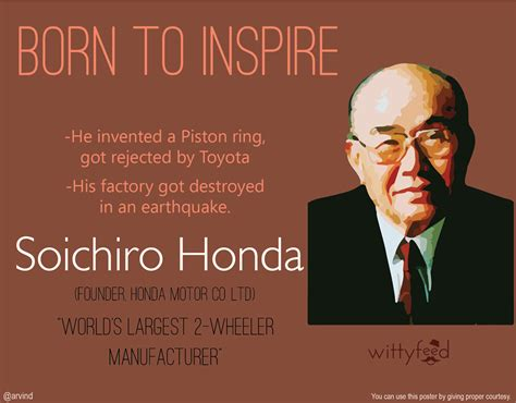 toyota quotes soichiro honda inveted a piston ring got rejected by