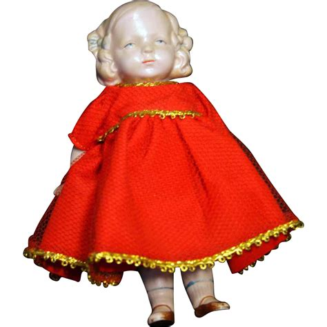 bisque doll molded hair all bisque marked germany 7 quot vintage doll with molded hair