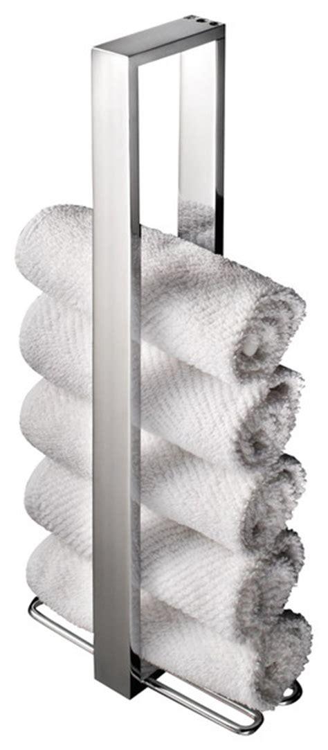 vertical towel rack bathroom ws bath collections skuara vertical towel holder