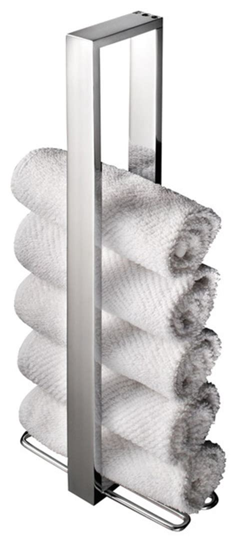 Ws bath collections skuara vertical towel holder contemporary towel bars and hooks by modo