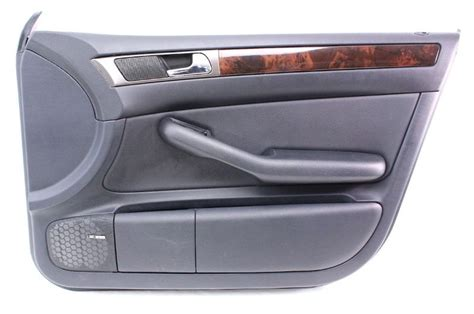 Gats Lx 605 Brown Genuine Leather passenger front interior door panel card trim 98 04 audi a6 c5