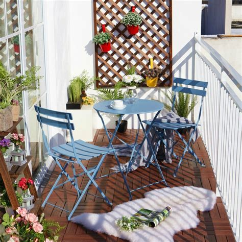 Balcony Chair And Table Design Ideas For Urban Outdoors Balcony Bistro Set Patio Furniture