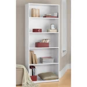 Large Corner Bookcase 5 Shelf Bookcase White Walmart Com