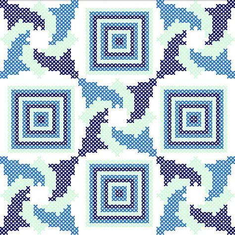 Cross Stitch Quilt Block Patterns by Cross Stitch Pattern Quilt Block Triptych Modern Cross Stitch