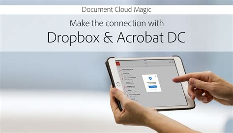dropbox just says connecting make the connection with dropbox acrobat dc adobe