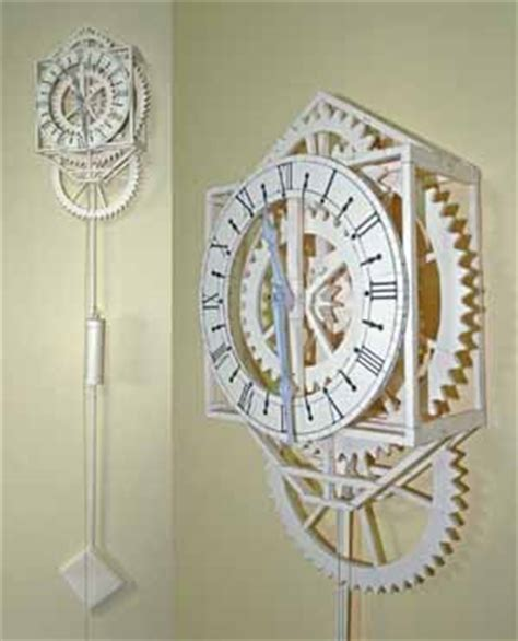 working japanese papercraft clock free template