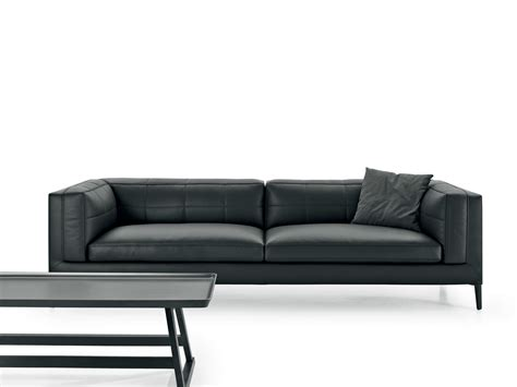 b and b italia sofa upholstered 3 seater leather sofa dives collection by