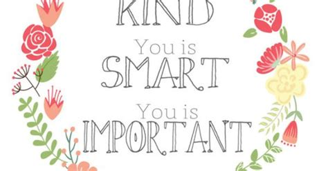 quote art print   sign   kind   smart   important printable