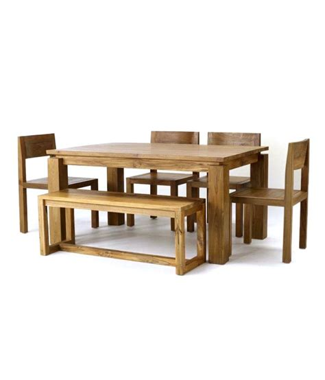 Arizona Dining Table Arizona Dining Set Table Bench 4 Chairs Buy At Best Price In India On Snapdeal